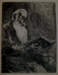 Hermann Struck, Talmid Chacham with a Book