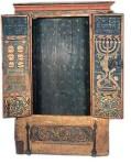 Torah cabinet painted by Eliezer Sussmann, 1738/39